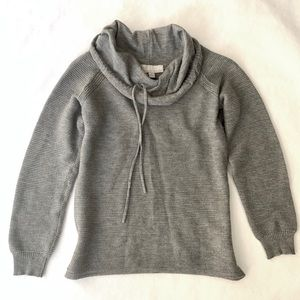 Carolyn Taylor gray cowl neck sweater - size small